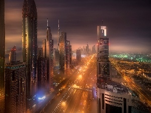 Dubaj, skyscrapers