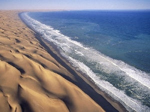 Waves, Dunes, sea