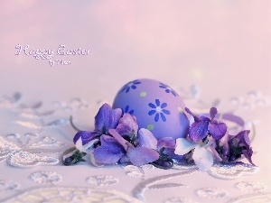 Easter, christmas, egg, Violets