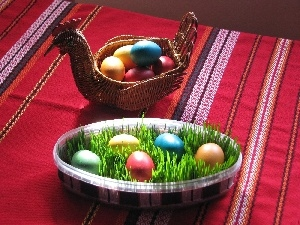 eggs, easter, basket