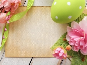Flowers, egg, Easter