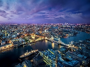 England, London, panorama, town