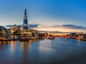 England, London, River, Town