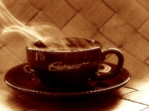 cup, Espresso, Steaming