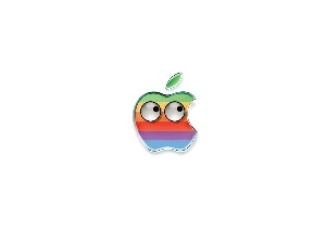 Eyes, Apple, color, logo