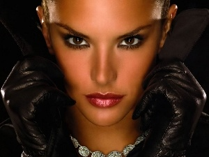 face, Gloves, Adriana Lima