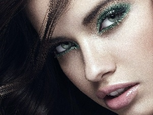 face, make-up, Adriana Lima