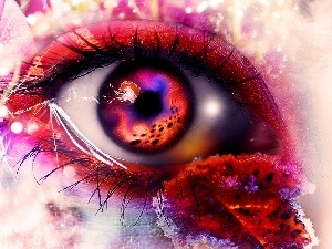 eye, fantasy, color