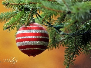 festively decorated, bauble, christmas tree, branch