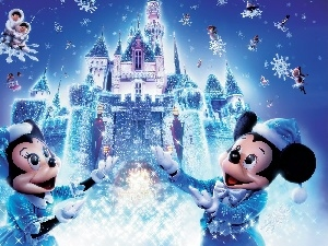 flakes, Miki, Disneyland, snow, mouse