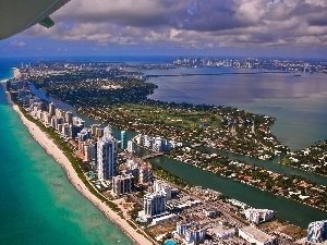 Florida, Miami, panorama, town