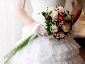 Dress, Flowers, marriage