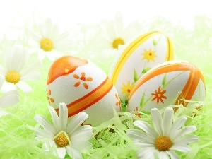 eggs, Flowers, Easter