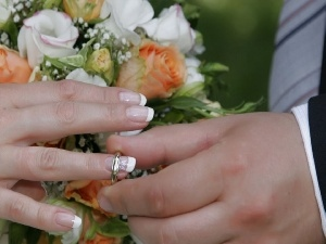 ring, Flowers, hands