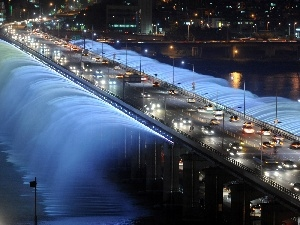 fountain, Seul, Banpo Bridge