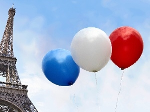 France, Balloons, Eiffla Tower