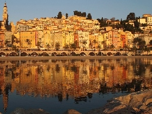 France, Riviera, Houses, sea