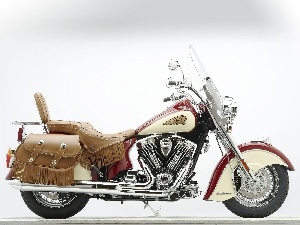 Fringe, panniers, Indian Chief Roadmaster, Glass