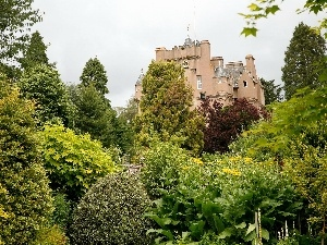 Garden, Scotland, Castle, Crathes