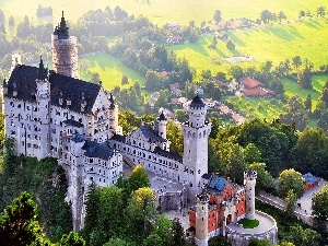 Germany, Bavaria, Neuschwanstein Castle, panorama