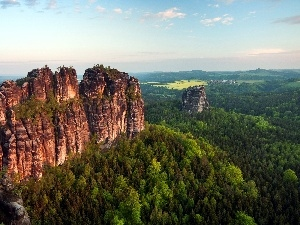 Germany, woods, Mountains, Rocky