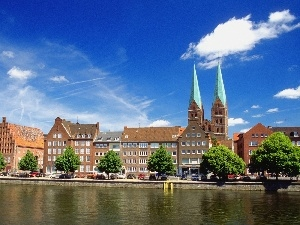 Germany, Luebeck, River, Trave