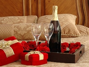 champagne, gifts, Bottle