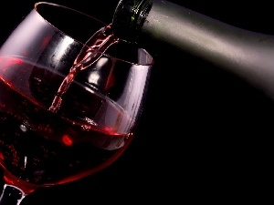 Wine, glass, Red