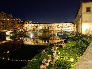River, Goldsmiths, Ponte Vecchio, Florence, Arno, bridge