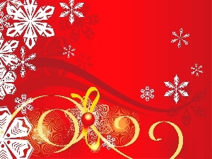 graphics, ribbon, flakes, snow