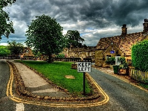 Great Britain, Way, Houses, rural