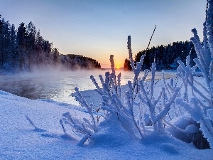 Great Sunsets, Fog, winter, River