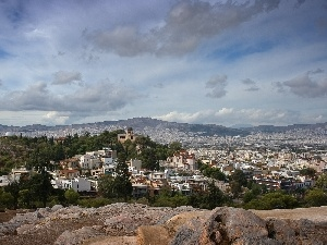 Greece, Athens, panorama, town