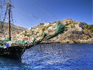 Greece, Island, sailing vessel, sea