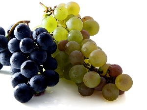 green ones, Blue, Grapes