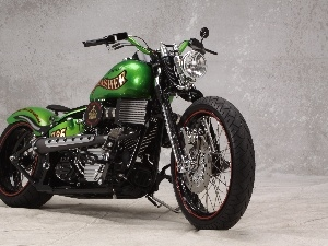 Green, Harley-Davidson, antique