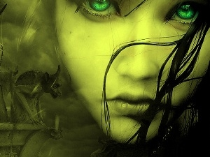 green ones, Womens, Monument, Eyes, face