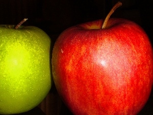 green ones, Red, Apple