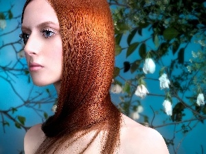 Hair, Copper, Women, make-up