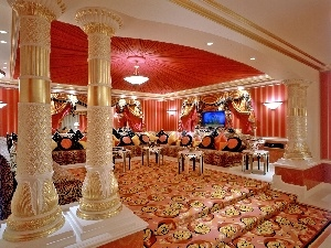 hall, luxury, Hotel hall