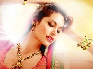 Esha Gupta, jewellery, Women, make-up