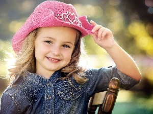 Pink, Hat, girl