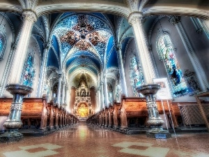 interior, HDR, Church