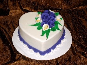 heart, Shape, Cake, Flowers, ##