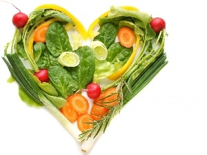 Heart, vegetables