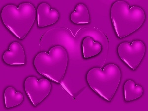 hearts, purple