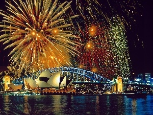 Opera, Hrbour Bridge, Sydney, New Year