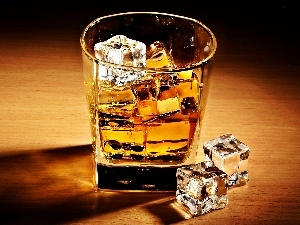 ice, knuckle, A glass, Whisky