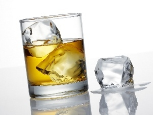 ice, knuckle, Whisky, cup