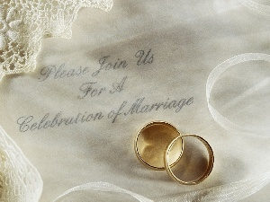invitation, rings